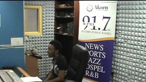 DJ Black Ice doing her show Simply To Know on WPRL 91.7 FM