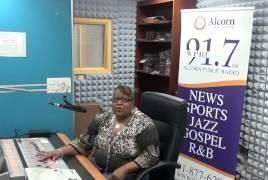 DJ Brown Suga doing her show Memory Lane on WPRL 91.7 FM