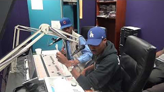 DJ Expressive and DJ Jay Smooth doing their show 'The Expressive Hour' on WPRL 91.7 FM