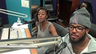 DJ QuarterBlack and DJ QuietStorm doing their show 'She and He Talk Sports' on WPRL 91.7 FM