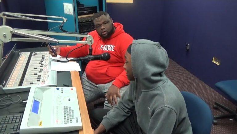 DJ Bigg Thunda doing his radio show 'The Quiet Storm' on WPRL 91.7 FM