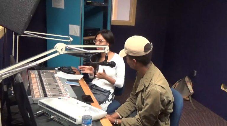 DJ Kay La Femme doing her show 'The Femle Mind' on WPRL 91.7 FM