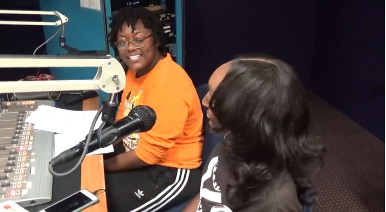 DJ Swavyy Swayy doing her show 'The Wavyy Hour' on WPRL 91.7 FM