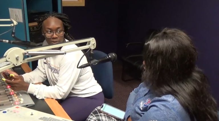 Majesty Ferguson doing her show 'The Royalty Chat Room' on WPRL 91.7 FM