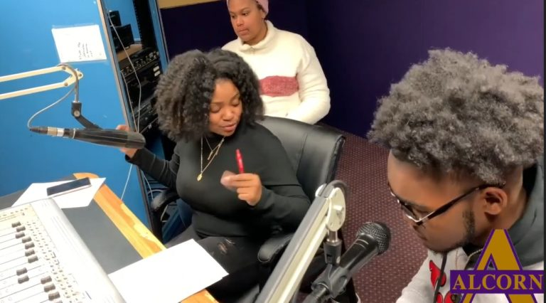 DJ Nika G. and DJ Emaree doing their shows on WPRL 91.7 FM