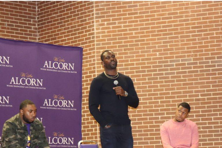 Michael Vick Visits Alcorn on Empowerment Tour