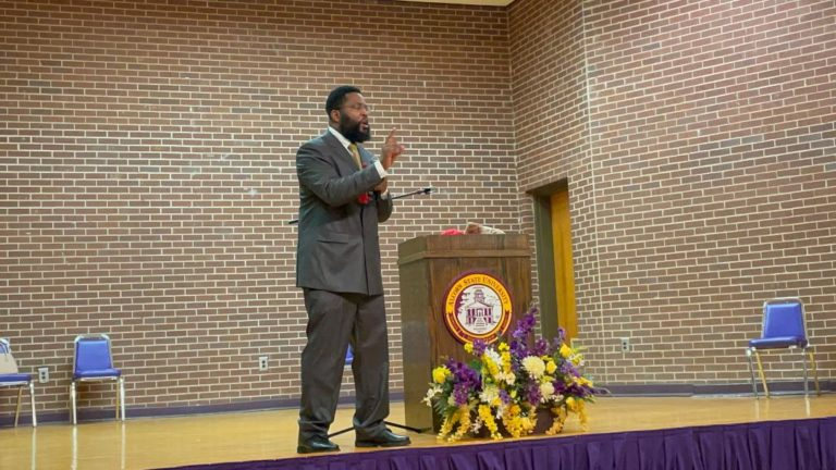 Renowned Speaker, Dr. Umar Johnson, Visits Alcorn