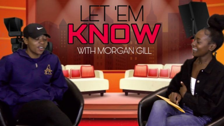 Morgan Gill doing her show 'Let 'Em Know' (April 15, 2021)
