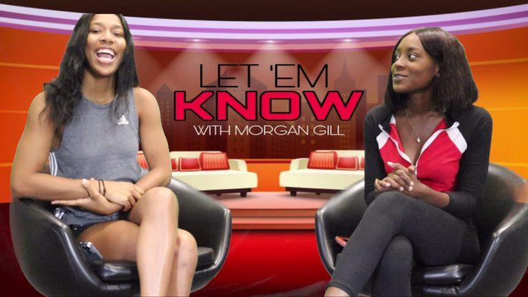 Morgan Gill doing her show 'Let 'Em Know' (September 30, 2021)