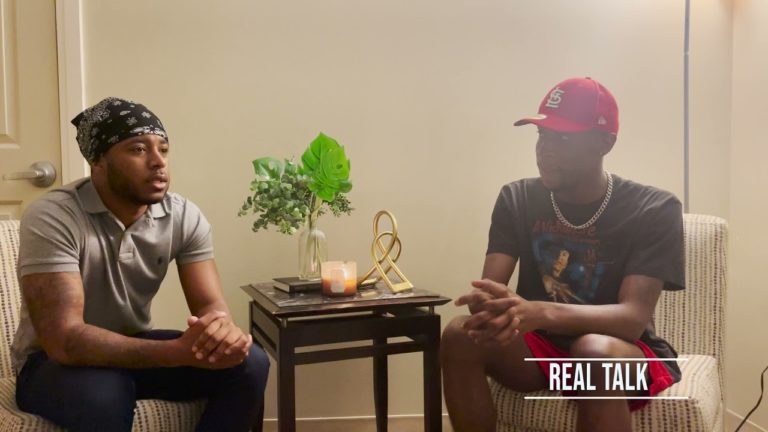 Camron Henderson doing his show 'Real Talk' (S1 E2)