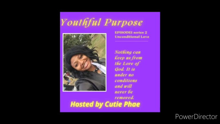 D'Anna King doing her show 'Youthful Purpose' (S1 E2)